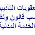 العقوبات التأديبية حسب قانون ونظام الخدمة المدنية الكويتي