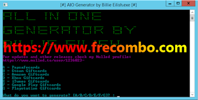 AIO Generator Support 7 Famous Sites By BIllio Eilish