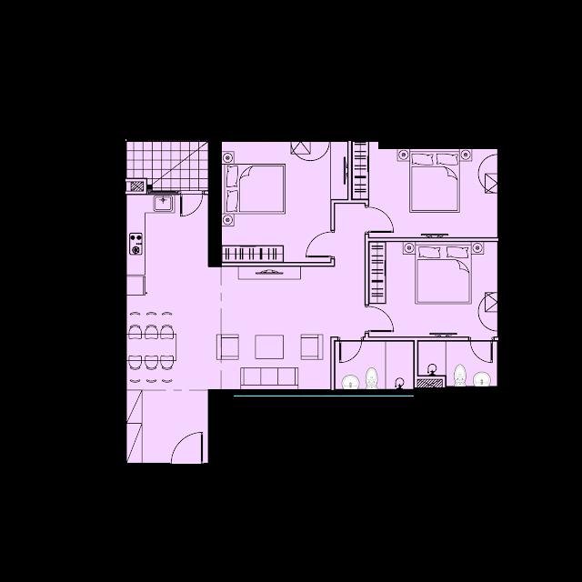 Thiết kế căn hộ C2 - 98,6m2 tòa River1 EuroWindow River Park