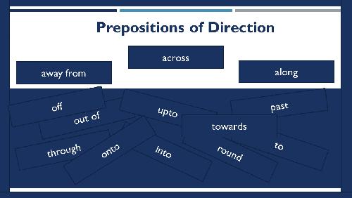 NEB Grade XI Compulsory English Note | Language Development | Unit-3 Prepositions of direction (Part 3)