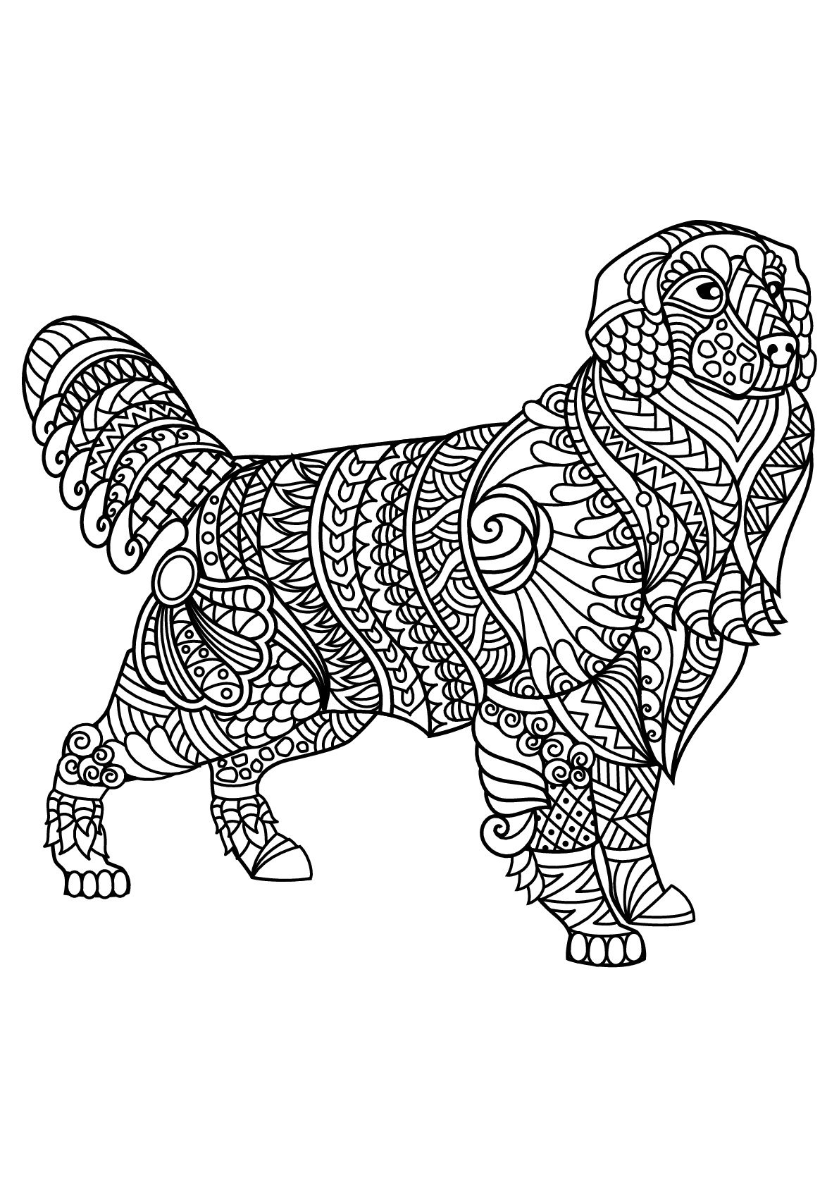 Dogs coloring pages 84