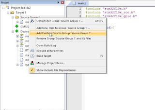 Cara Memasukkan Library untuk STM32 pada Keil UVision