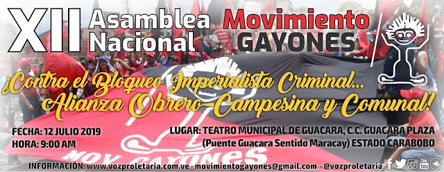 XII Asamblea Nacional de Movimiento Gayones - Carabobo 2019
