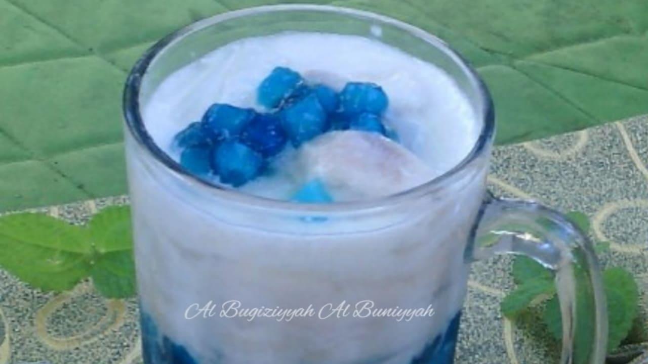 Minuman Kekinian Es Blue Saphire, Begini Cara Membuatnya