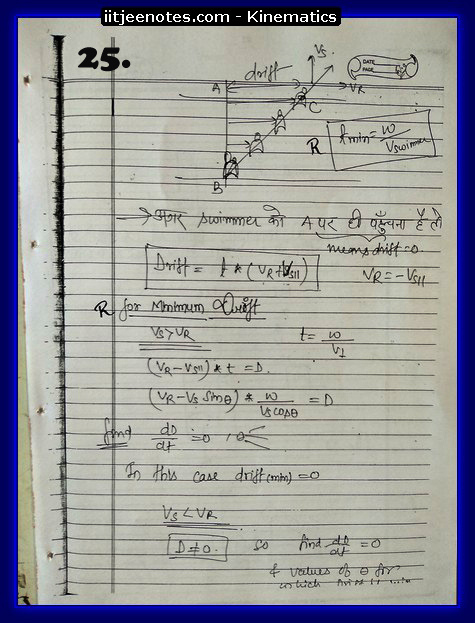 kinematics notes cbse8