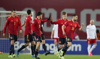 ملخص واهداف مباراة اسبانيا وجورجيا (2-1) تصفيات كأس العالم