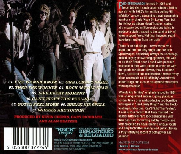 REO SPEEDWAGON - Wheels Are Turnin' [Rock Candy remastered] back