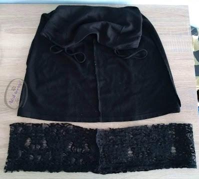 Przedłużanie za krótkiej sukienki DIY doszywanie materiału u dołu - Adzik tworzy