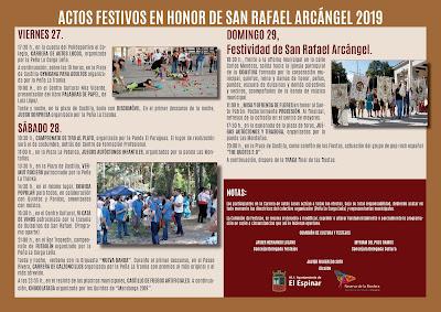 Programa de Fiestas San Rafael 2019