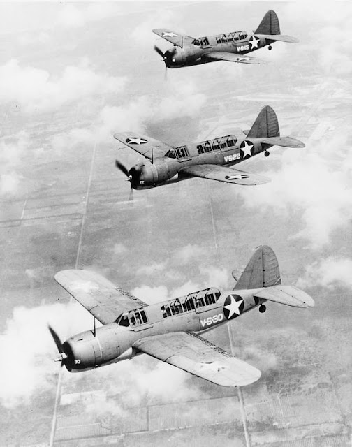 Brewster SB2A-4 Buccaneer trainers 17 June 1941 worldwartwo.filminspector.com