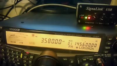 OH2DD - Kenwood TS-2000 ja Signalink USB PSK31 lähettämässä PSK31 digimodea