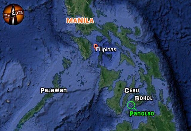 Mapa-Panglao- Filipinas