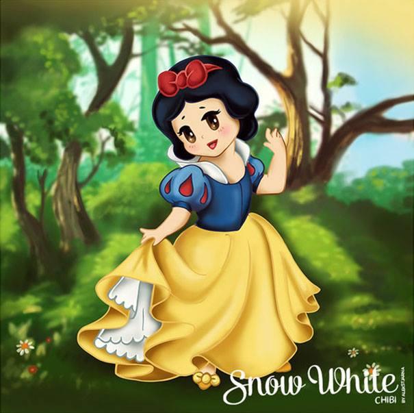 Snow White chibi công chúa Nàng bạch tuyết 2