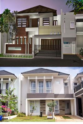 30 model rumah type 36 minimalis 2 lantai tampak depan