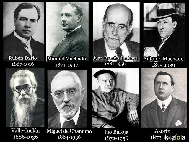 Autores del Modernismo y de la generación del 98