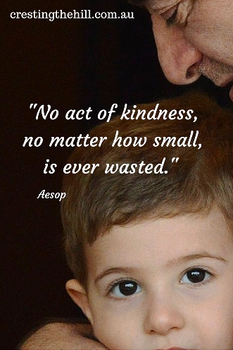 No act of kindness, no matter how small, is ever wasted. Aesop #inspirationalquotes