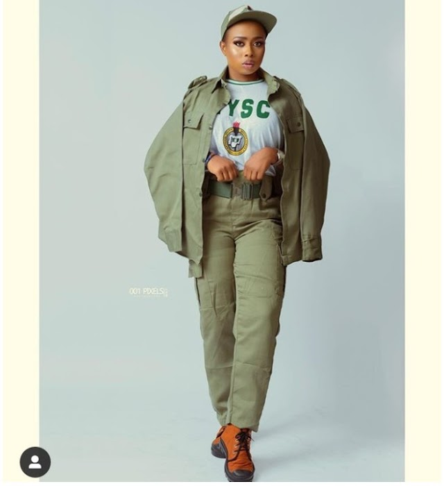Alaafin Of Oyo's Wife Spotted In NYSC Uniform As She Serves Her Country (Photo)