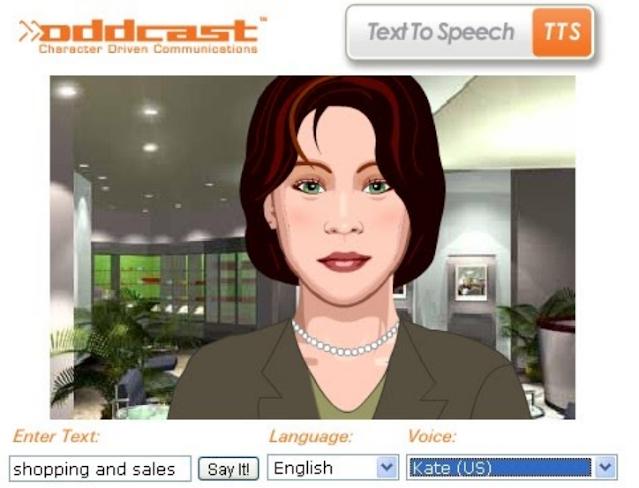 Oddcast.com best text to speech TTS