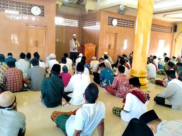 Kapolres Lotim Sosialisasi New Normal dan Kampung Sehat di Masjid