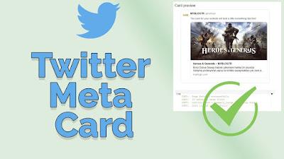 blogger için twitter ayarları, twitter meta tag, twitter card ayarı