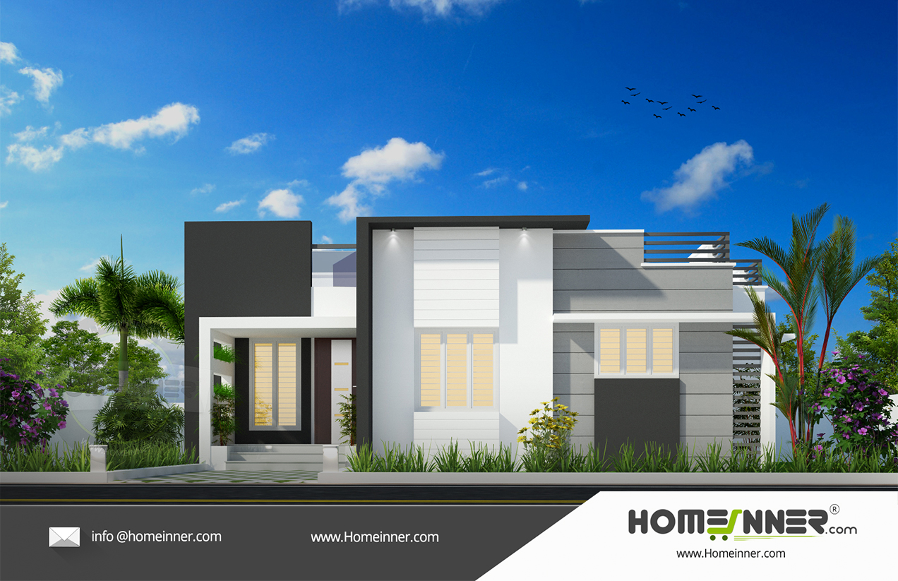 HIND-16071 Architectural house plan villa floor plan package