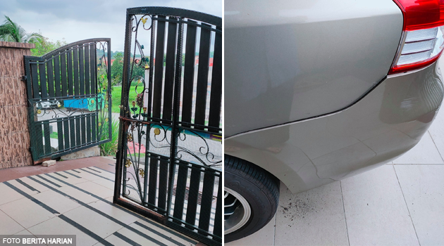 'Anak saya berusia 18 bulan berjaya reverse kereta, nasib baik tak berundur ke jalan utama'