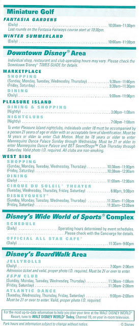 Back Times Guide Walt Disney World October 22nd to 28th 2006