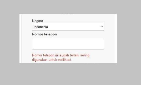 Solusi Nomor Telepon Tidak Bisa Digunakan Untuk Verifikasi Gmail Karena Terlalu Sering Digunakan