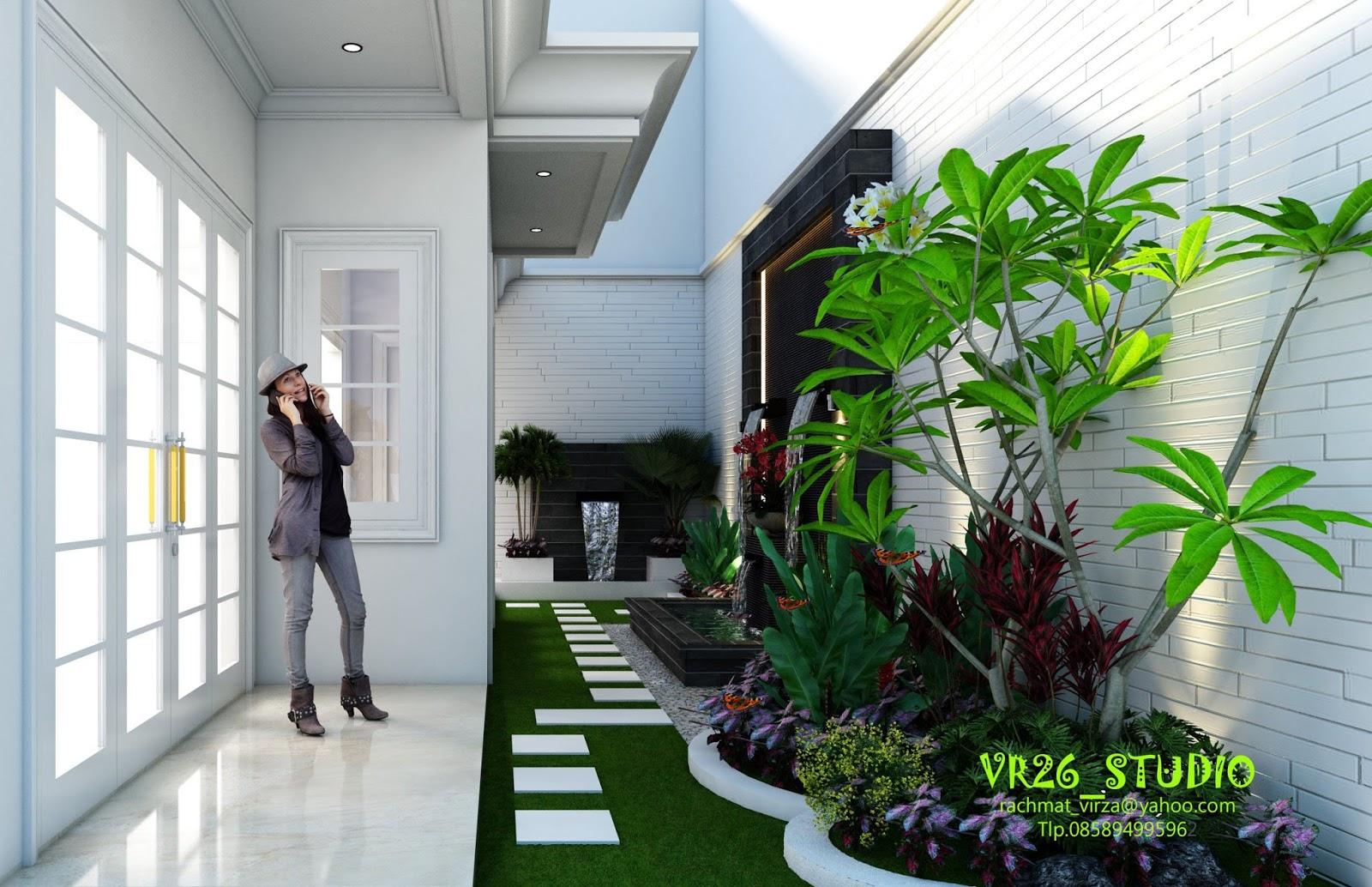 Desain Interior Taman Didalam Rumah Gambar Desain Rumah Minimalis