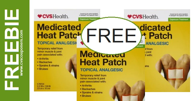 FREE CVS Health Medicated Heat Patch 5-10-5-16