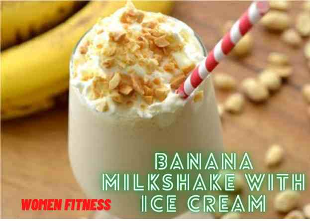 Keep Calm and Think About Banana Milkshake with Ice Cream