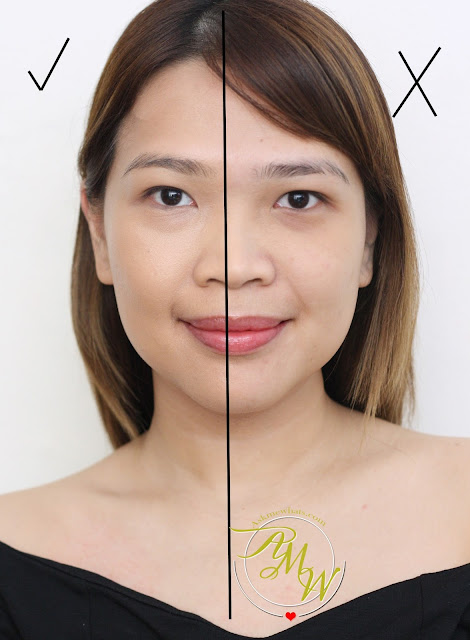 a photo of Deborah Milano DD Daily Dream Anti Age Foundation_before_after