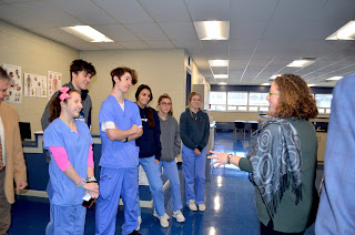 Senator Rausch also spoke with students in the Practical Nursing Programs