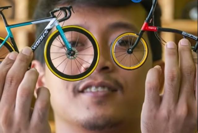 Miniatur Sepeda Buatan Pemuda di Karawang Mendunia, Ternyata Pernah Dipesan Adik Marc Marquez