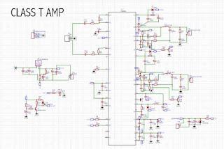 Schematic Class T TA2022 amplifier