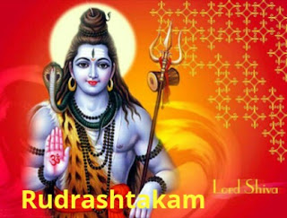 Pics of Lord Shiva and written Rudrashtakam