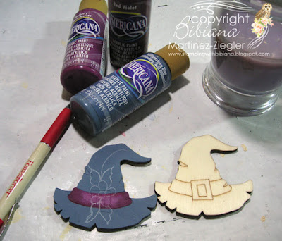 rosemaling witch pin first steps