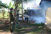 Gandeng KKP Merauke, Satgas Yonif 411 Kostrad Lakukan Fogging