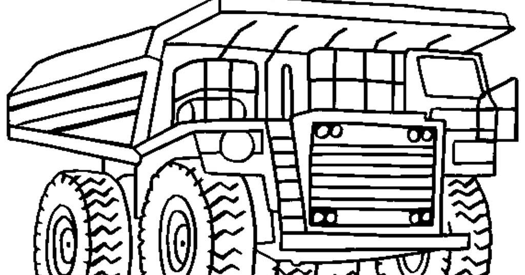 mewarnai gambar truk