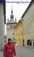 Torre del reloj y casa de Drácula en Sighisoara