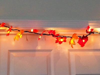 Make Your Own Lighted Fall Leaf Garland