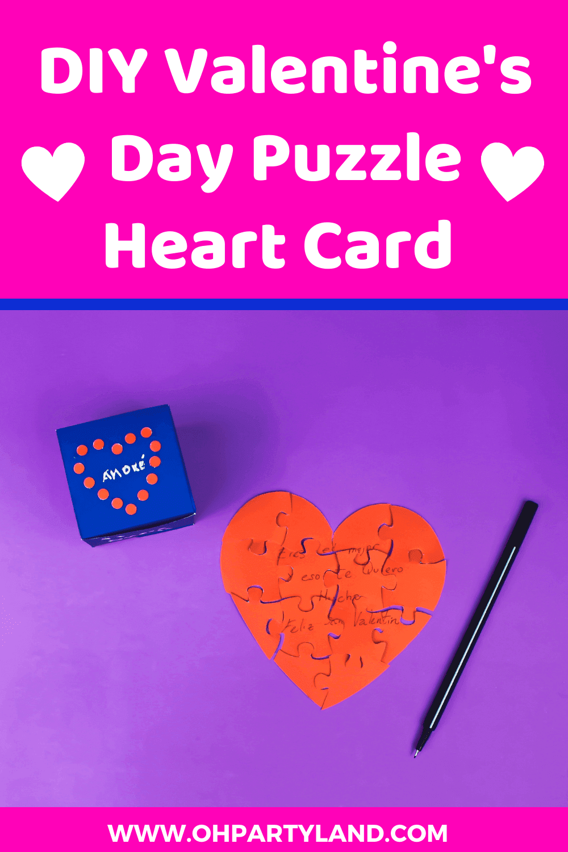 DIY Valentine's Day Heart Jigsaw Puzzle