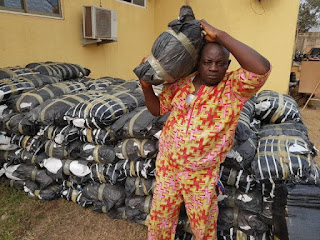 Man Arrested With 114 Bags On Weed In Ogun State (photo)