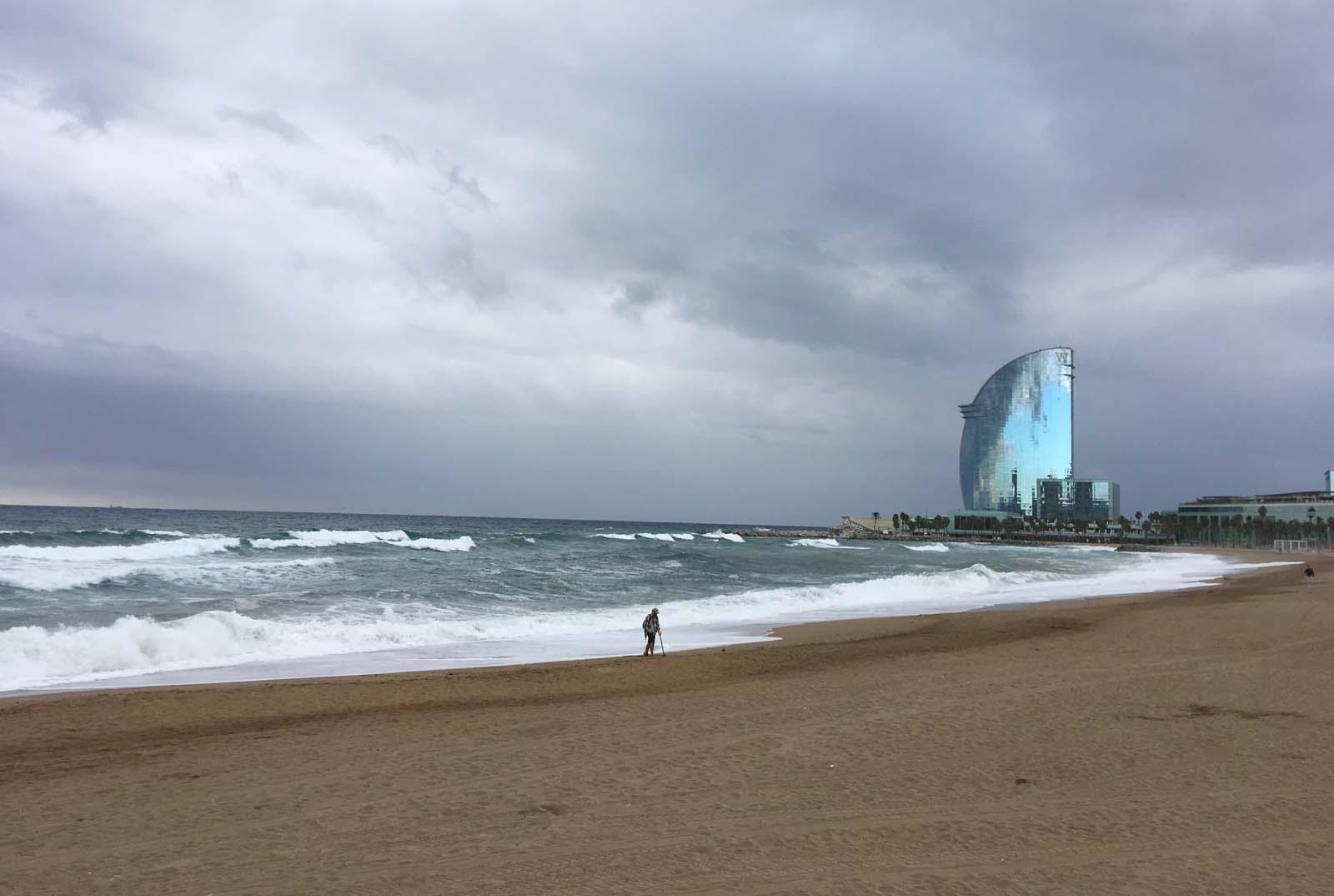 Playa de la Barceloneta. Otoño 2018