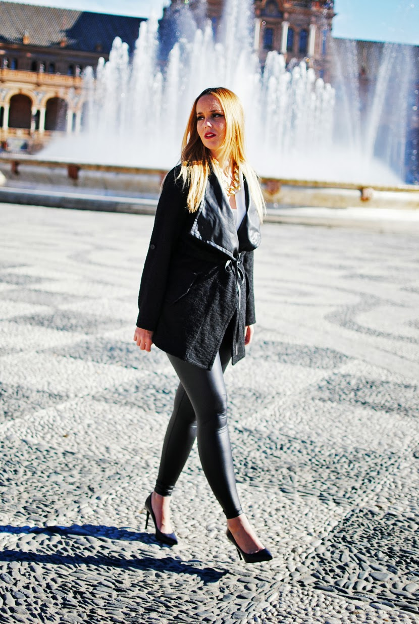 Nery hdez, sevilla, total black, nowistyle, leggins