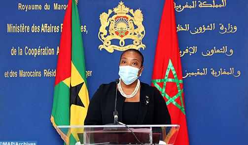 في العيون ، يرحب رئيس الدبلوماسية السانتومية بالعلاقات متعددة الأبعاد مع المغرب