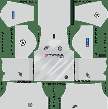 Download Kit DLS Chelsea GoalKeeper Third 2019 - 2020