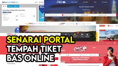 Senarai Portal Tempah Tiket Bas Online