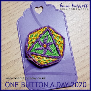 One Button a Day 2020 by Gina Barrett - Day 11 : Parma