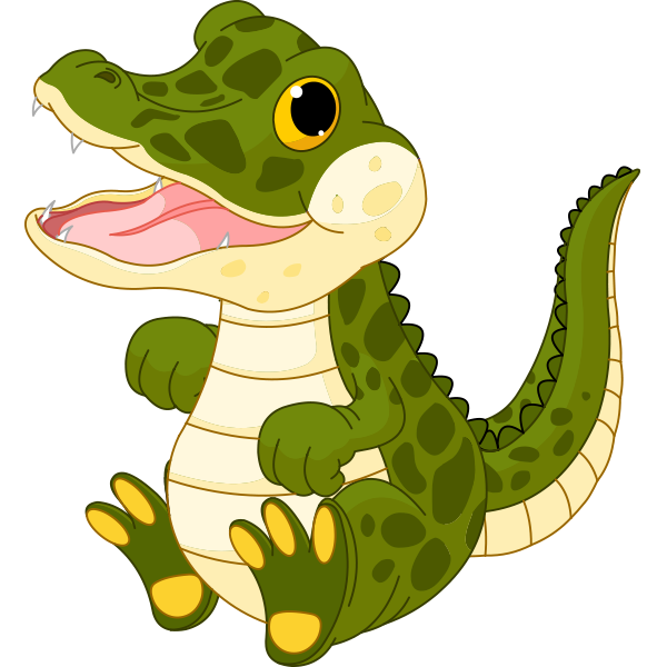 Cartoon Baby Alligator